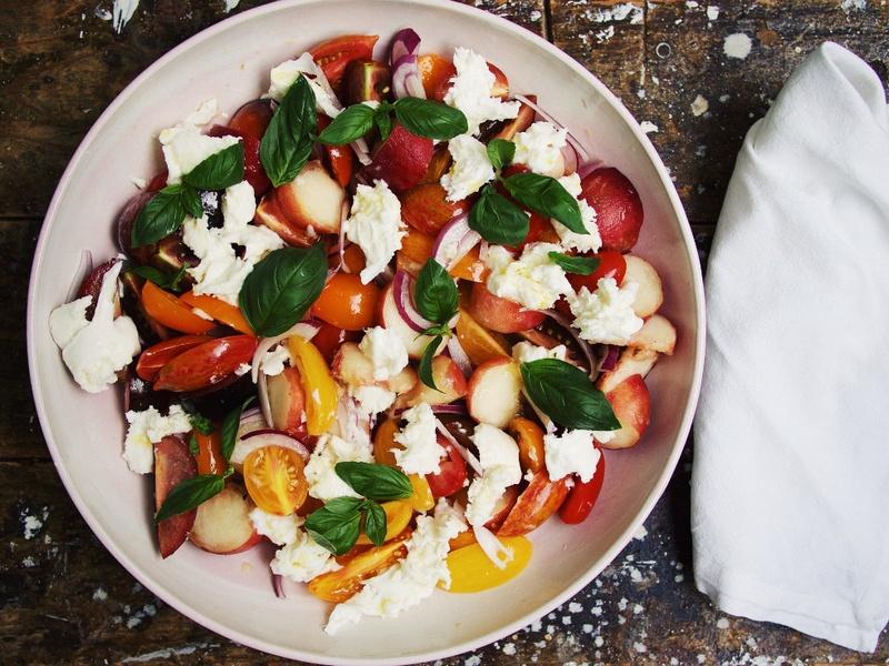 Rezept Tomaten-Pfirsich-Salat