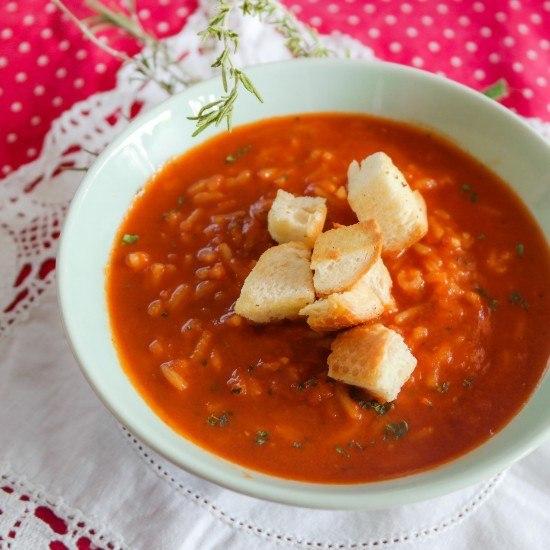 Rezept Tomaten-Reissuppe