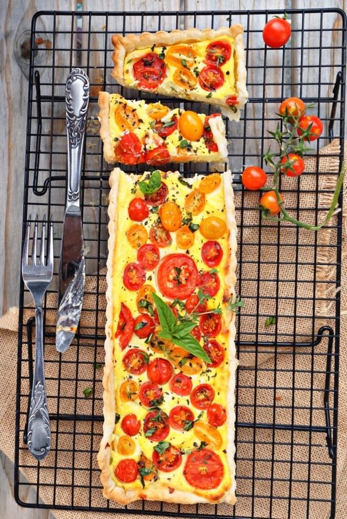 Rezept Tomaten - Ricotta Tarte