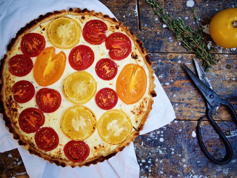 Rezept Tomaten-Ziegenkäse-Tarte