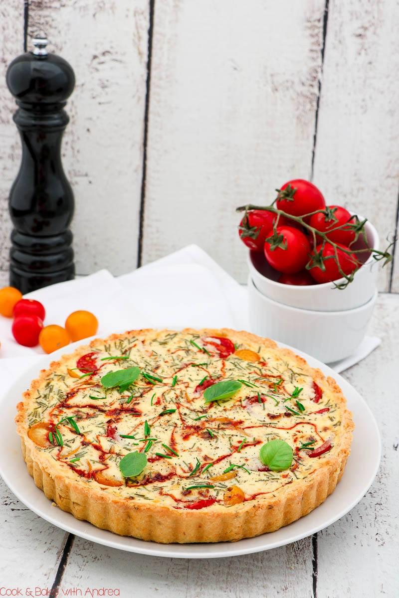 Rezept Tomatenquiche mit Ziegenfrischkäse