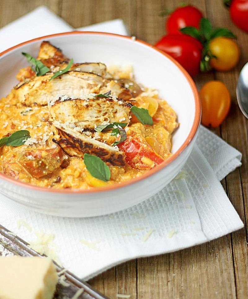 Rezept Tomatenrisotto mit Hähnchen