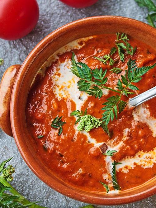 Rezept Tomatensuppe mit Wiesenkerbel