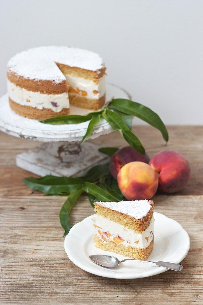 Rezept Topfen Pfirsich Torte