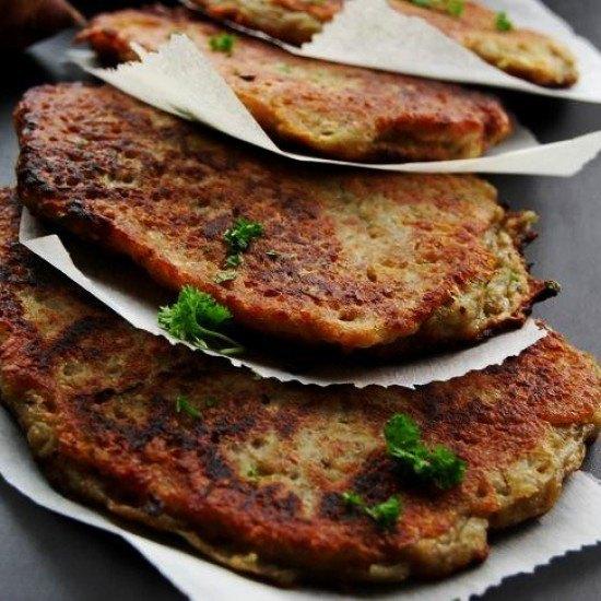 Rezept Topinambur-Reibekuchen mit Kräuter-Schmand