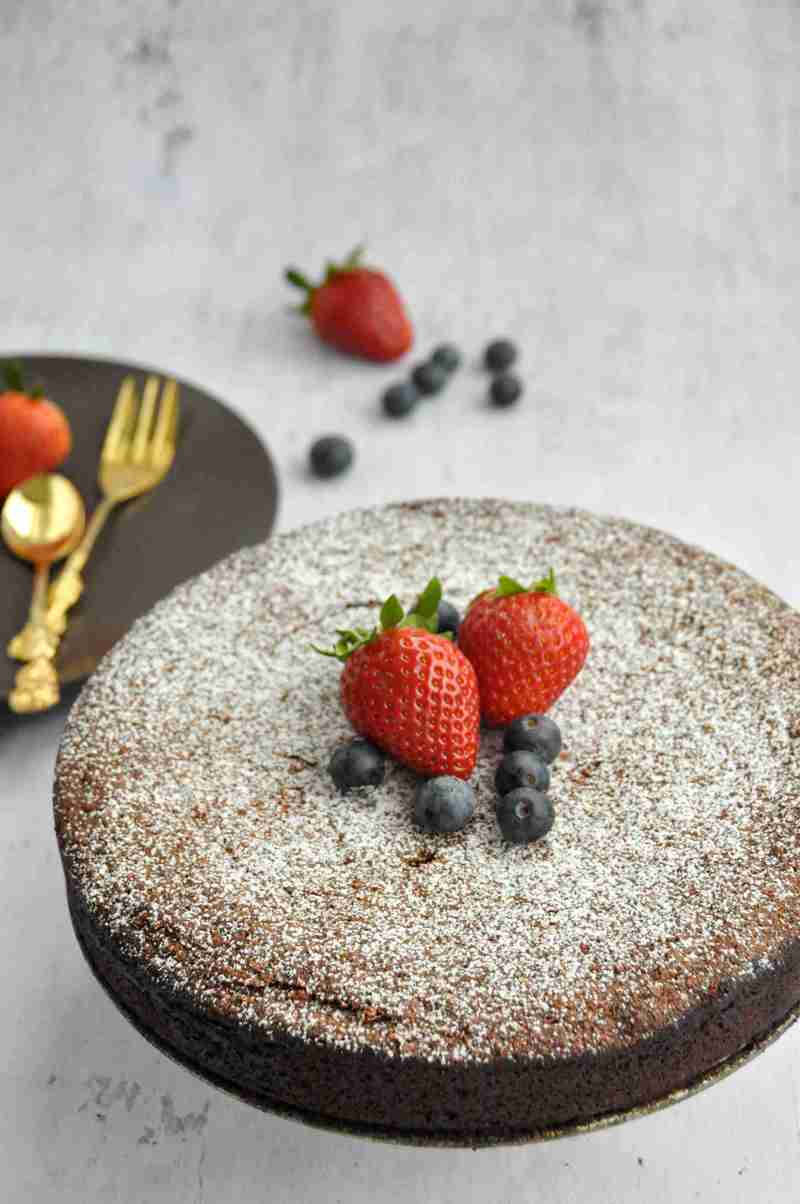 Rezept Torta Caprese - glutenfreier Schokoladenkuchen