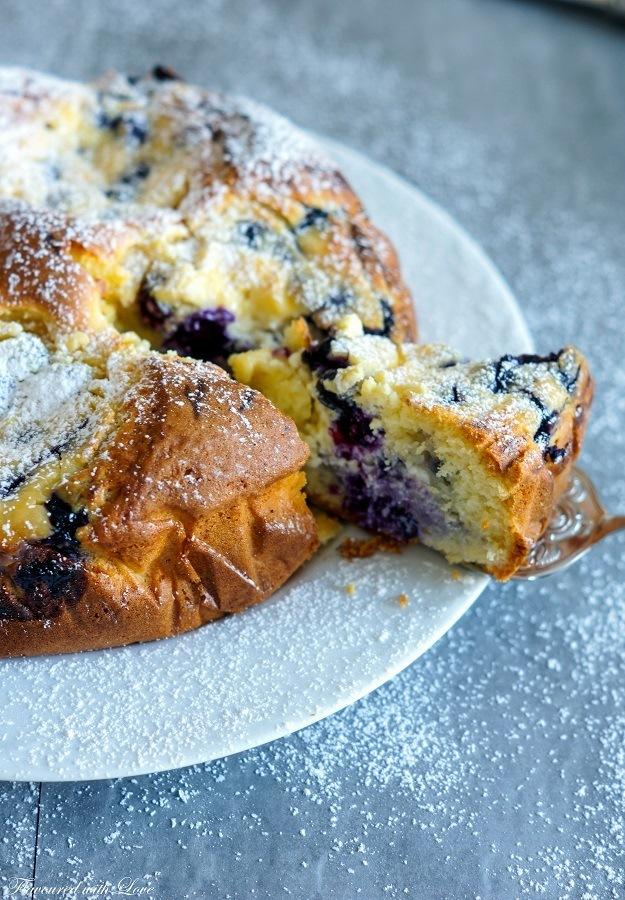 Rezept Torta Nua mit Blaubeeren