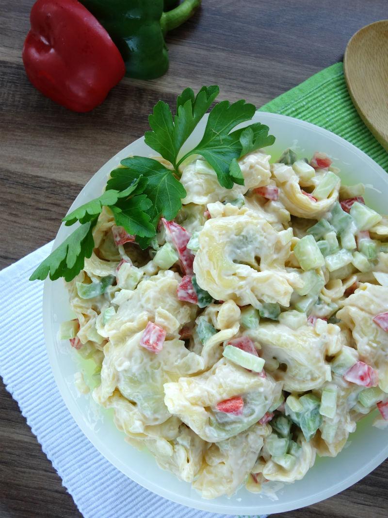 Rezept Tortellini-Salat auf Rucola, oder als Beilage zu gegrilltem
