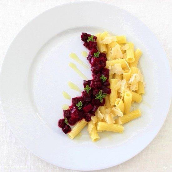Rezept Tortiglioni mit Rote Beete Ragù