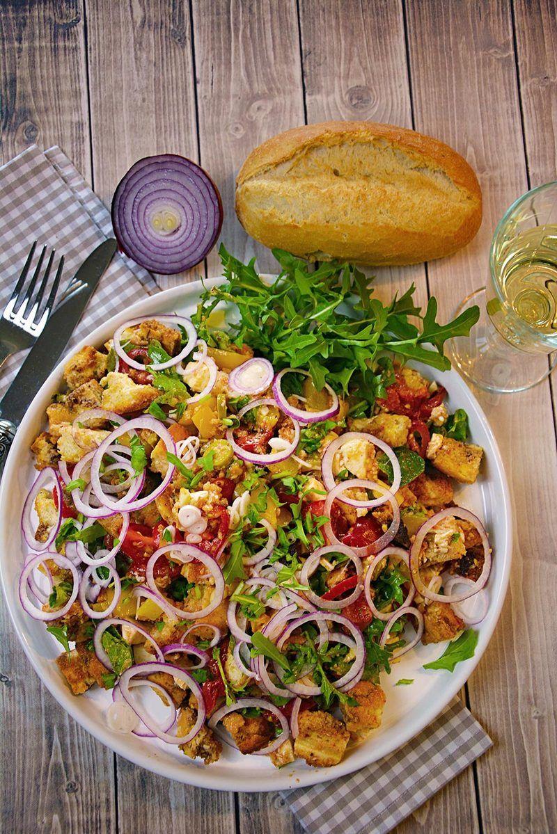 Rezept Toskanischer Brotsalat Panzanella – Foodwaste vermeiden