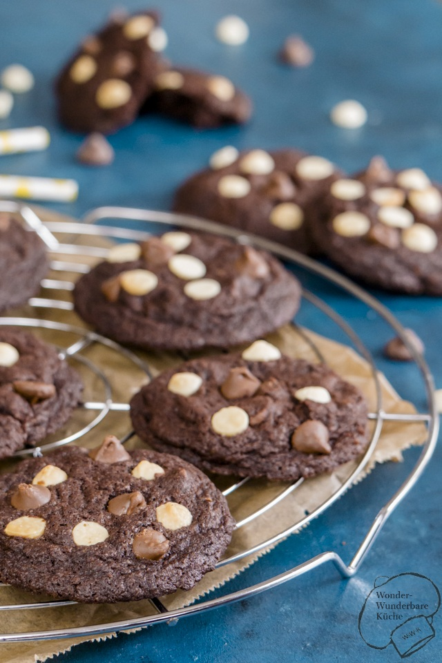 Rezept Triple Chocolate Cookies