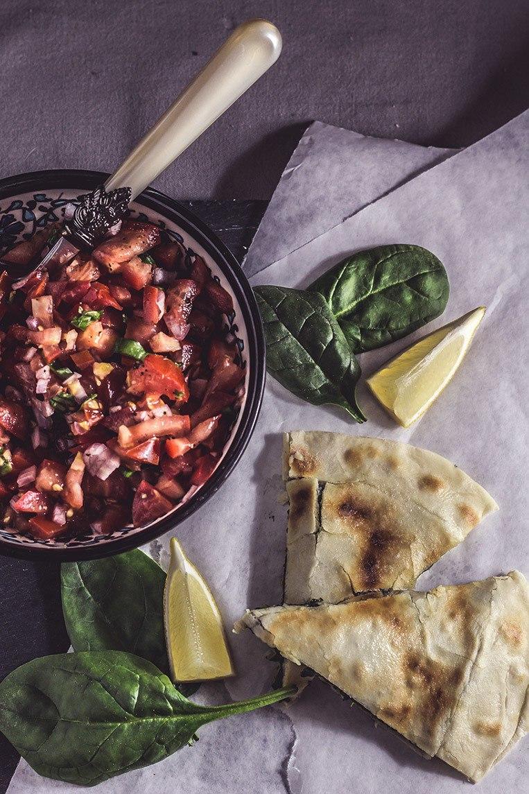 Rezept Türkisches Streetfood: Gözleme mit Spinat und Schafskäse