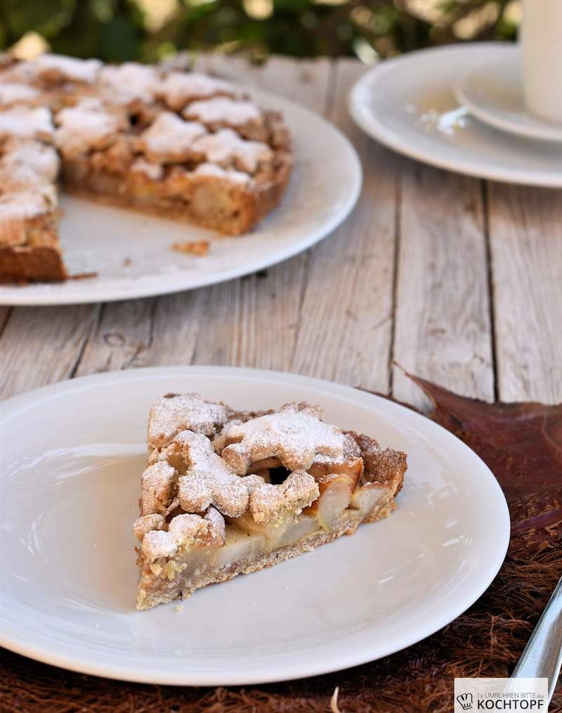 Rezept Two-Crust Birnen-Marzipan-Pie