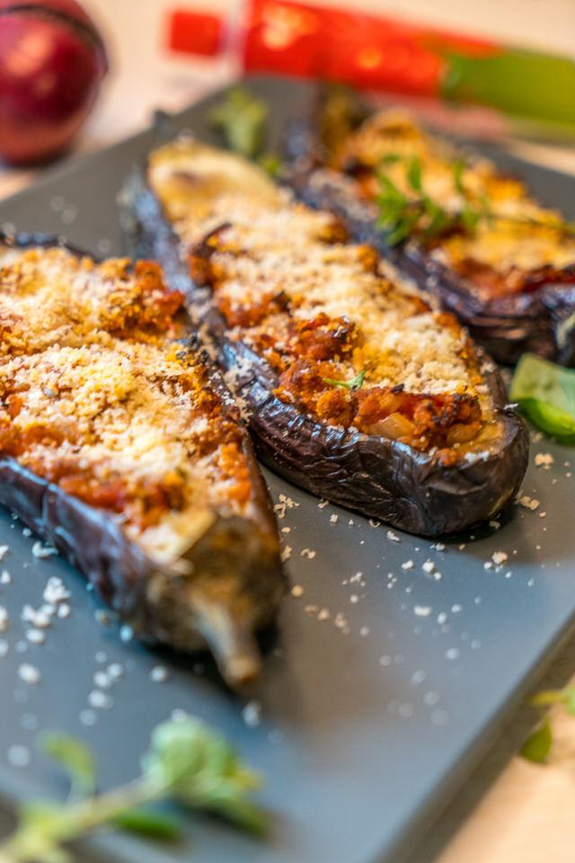 Rezept Überbackene Auberginen italienisch – Melanzane Ripiene Rezept