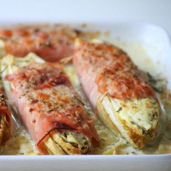 Rezept Überbackener Chicorée im Kartoffelbett