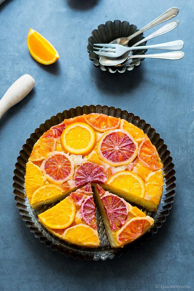 Rezept Upside-Down Cake mit Zitrusfrüchten