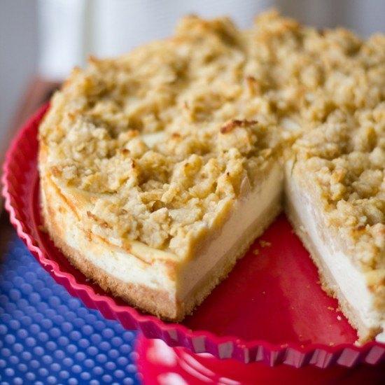 Rezept Vanille-Cheesecake mit Apfel-Streuseln