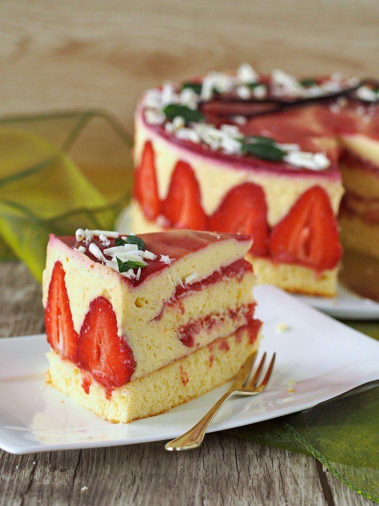 Rezept Vanille-Erdbeer-Torte