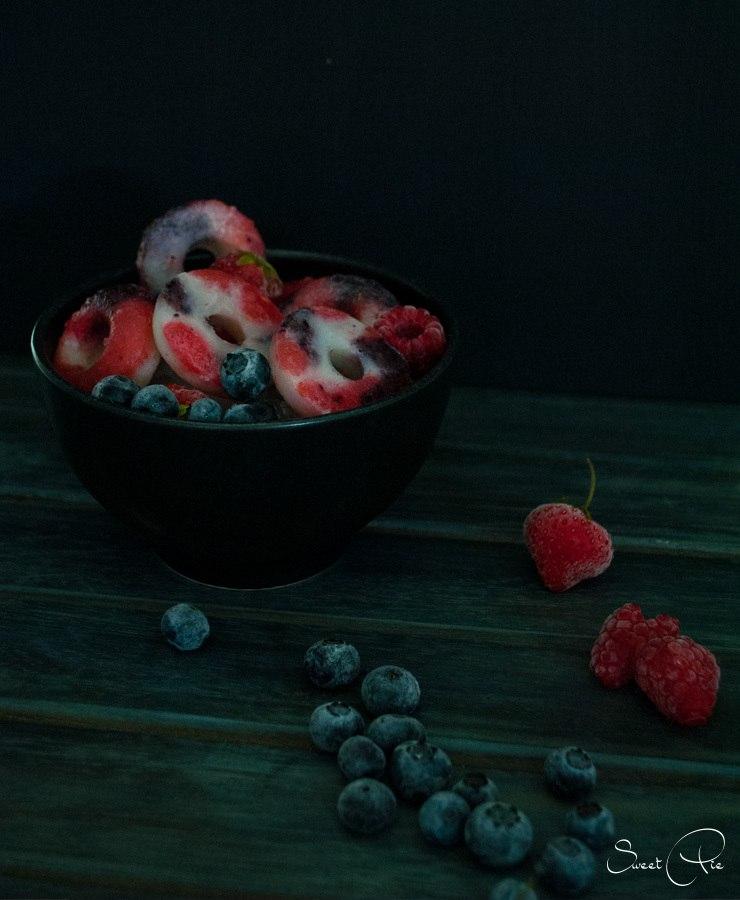 Rezept Vanille Kokos Beeren Eis