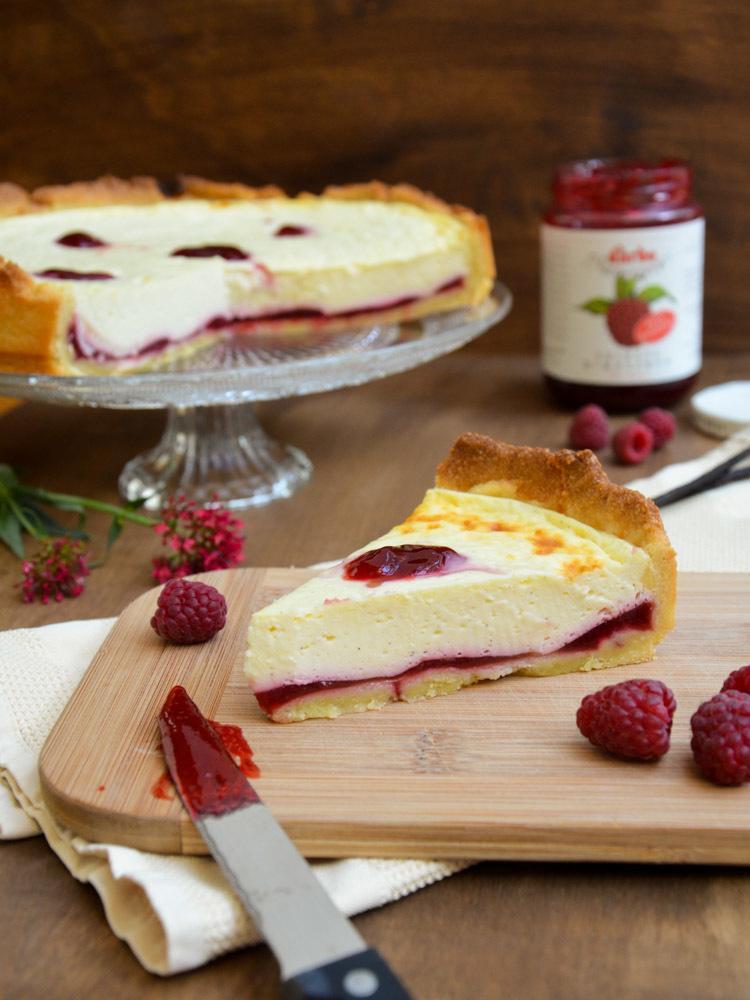 Rezept Vanille-Tarte mit Himbeermarmelade