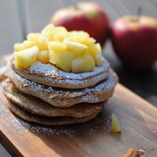 Rezept Vanille Zimt Pancakes mit Bratapfelkompott