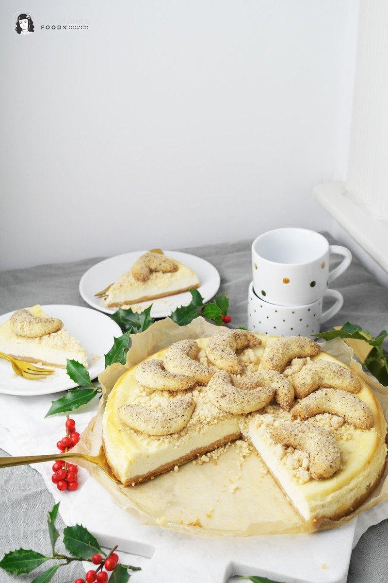 Rezept Vanillekipferl Käsekuchen