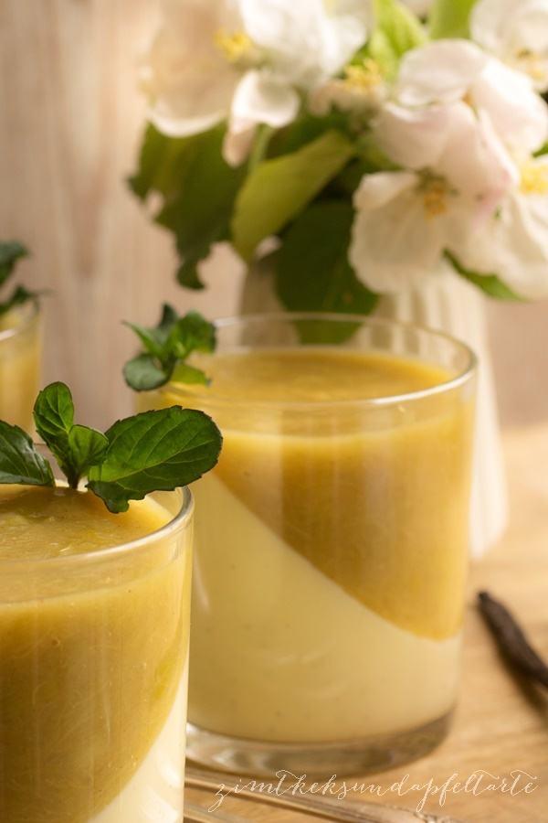 Rezept Vanillepudding mit Rhabarberkompott