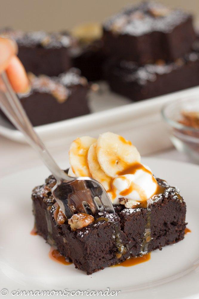 Rezept Vegane Brownies mit schwarzen Bohnen & Banane {Zuckerfrei}