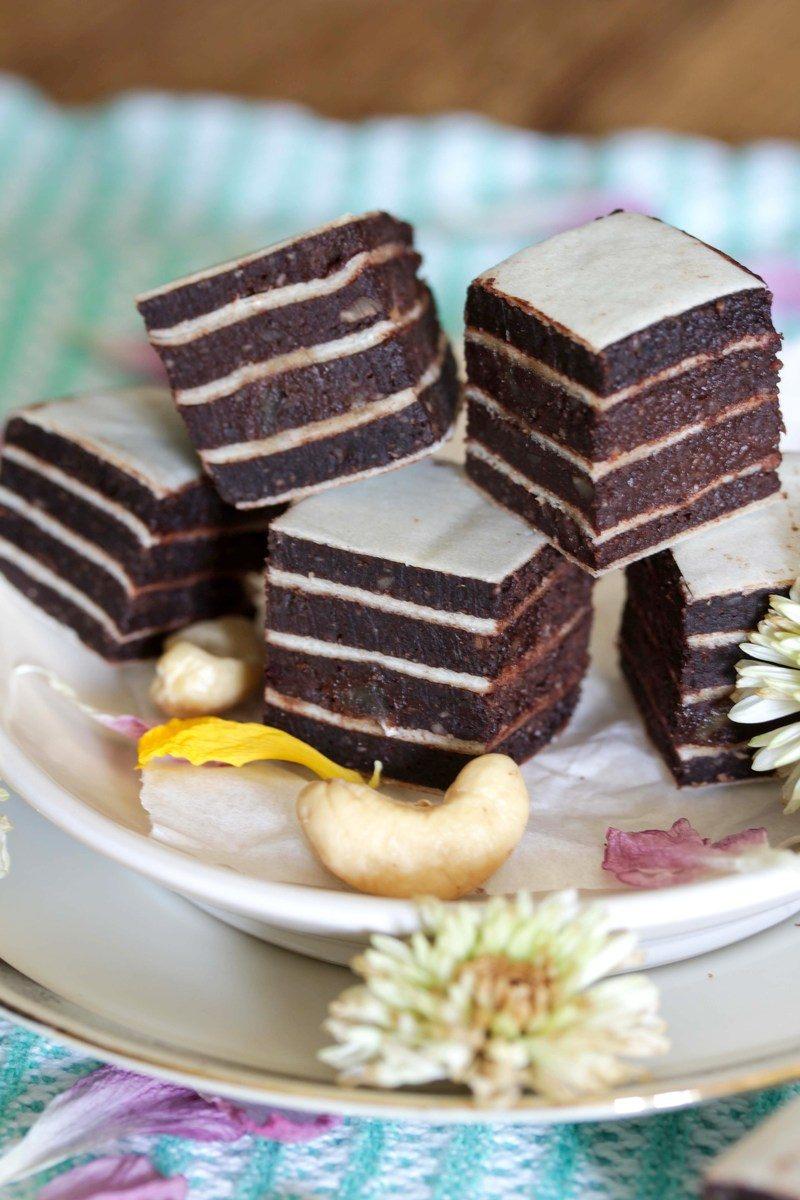 Rezept Vegane Cashew-Schoko-Quader