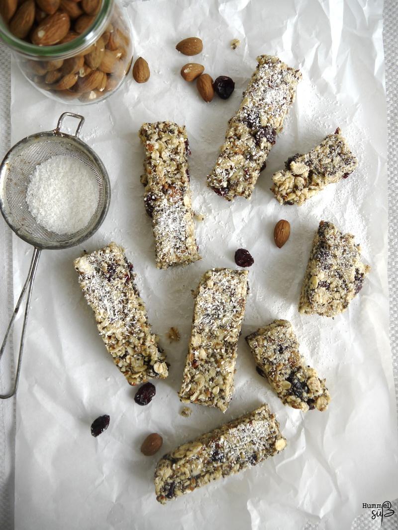 Rezept Vegane Cranberry-Kokos-Chia Energy Bars