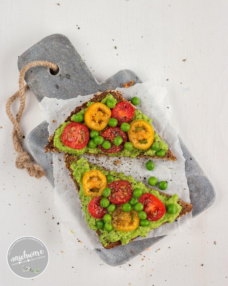 Rezept Vegane Erbsen Guacamole