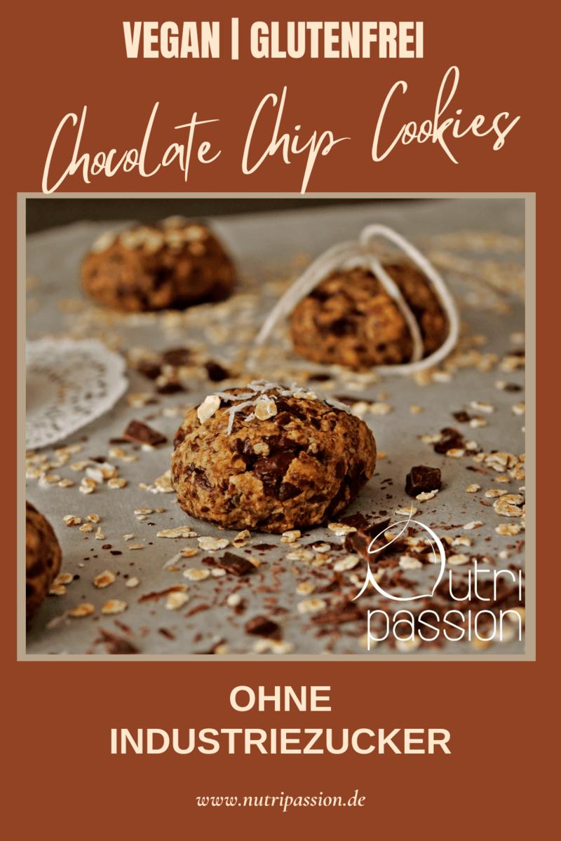Rezept Vegane & glutenfreie Chocolate Chip Cookies mit Erdnussmus