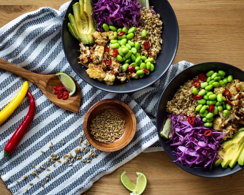 Rezept Vegane Grünkern-Hoisin-Bowl
