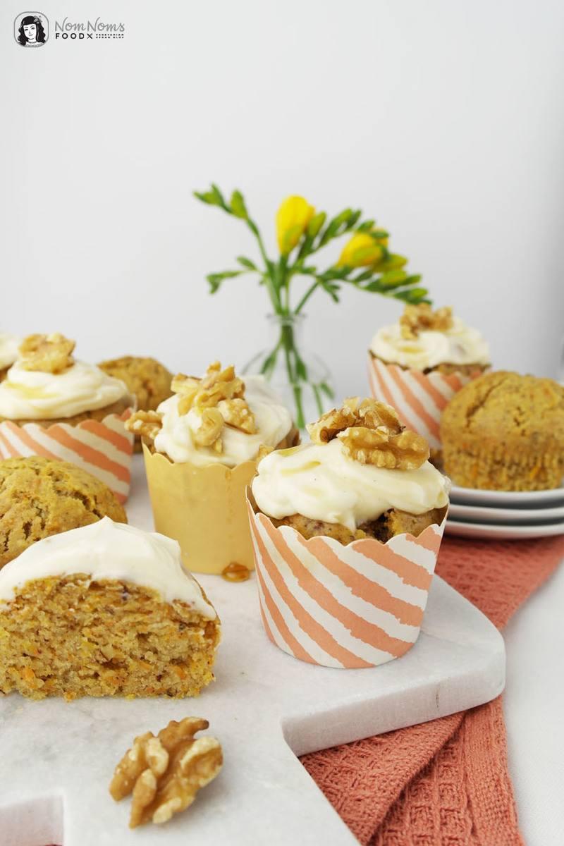 Rezept Vegane Karotten-Muffins mit Ahornsirup-Frosting