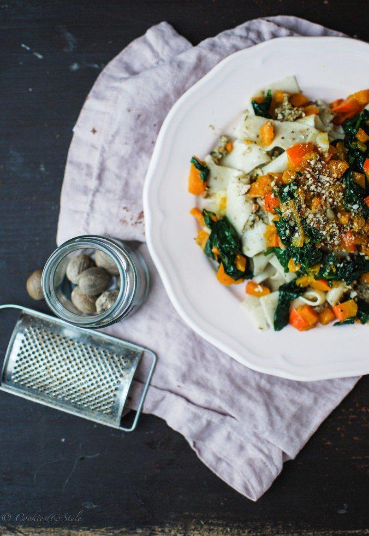 Rezept Vegane Kürbis-Steinpilz-Pasta