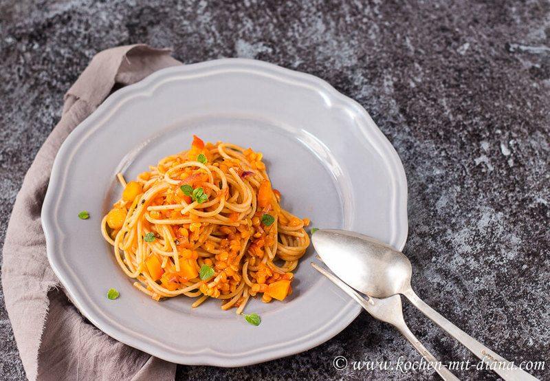 Rezept Vegane Linsen-Bolognese