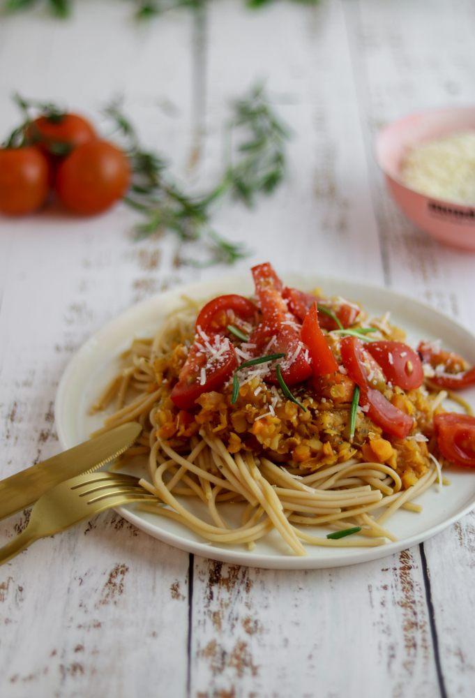 Rezept Vegane Linsenbolognese | rote Linsenbolo