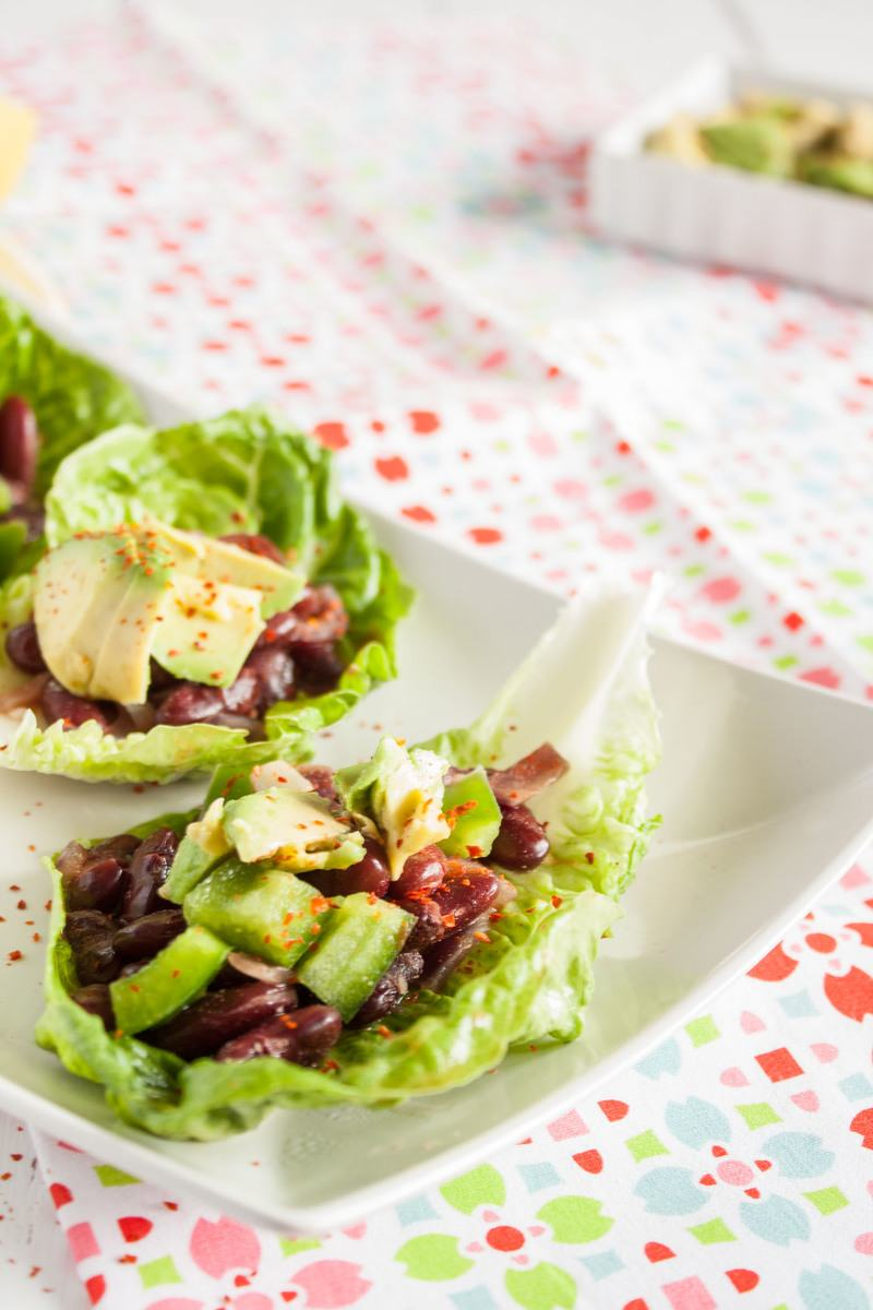 Rezept Vegane Low Carb Salat Tacos