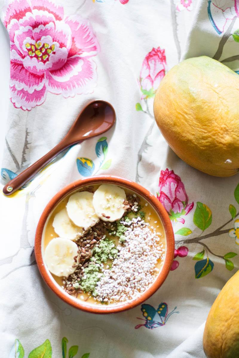 Rezept Vegane Mango Smoothie Bowl