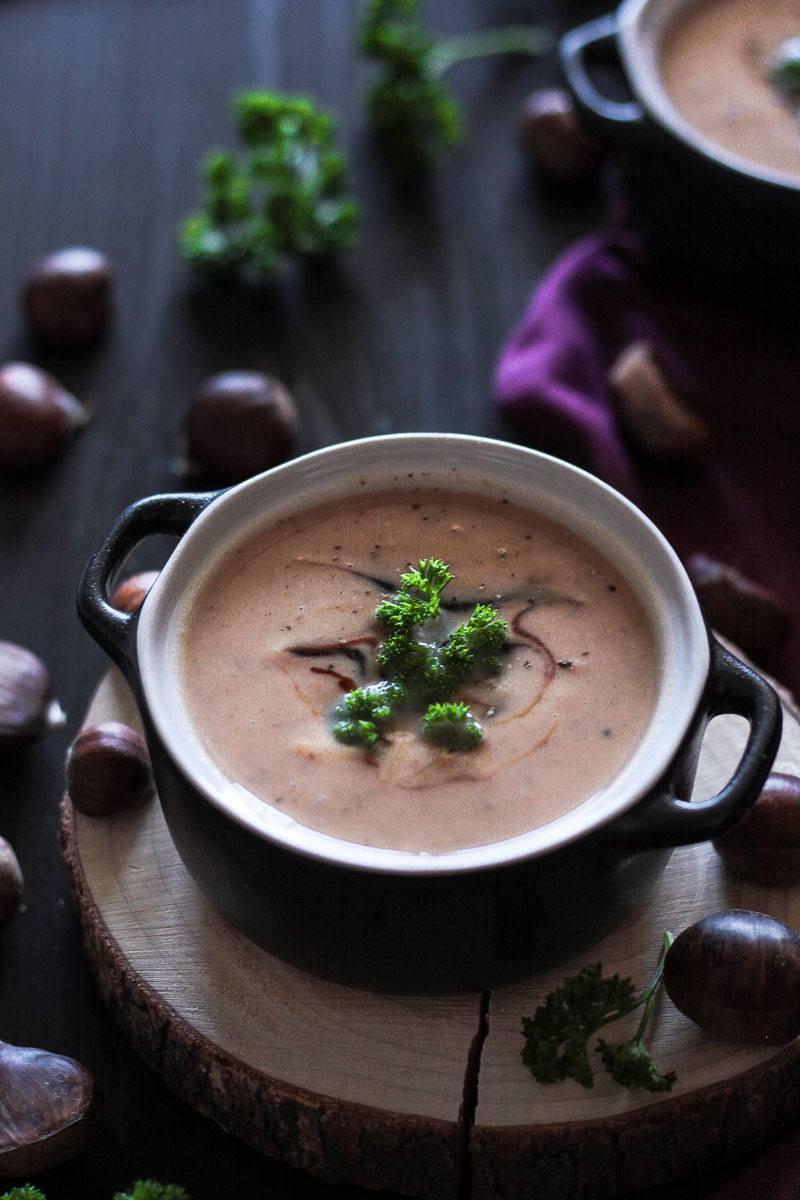 Rezept Vegane Maronensuppe