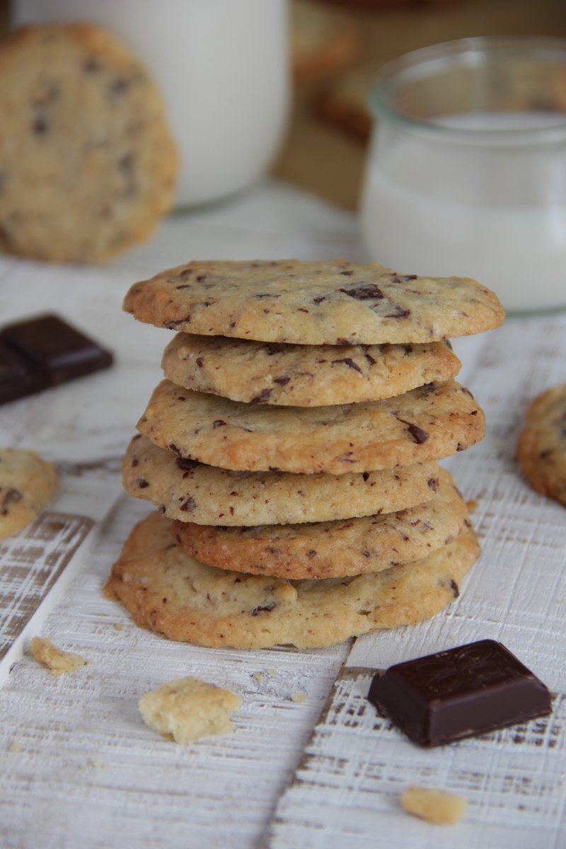 Rezept Vegane Stracciatella-Kekse