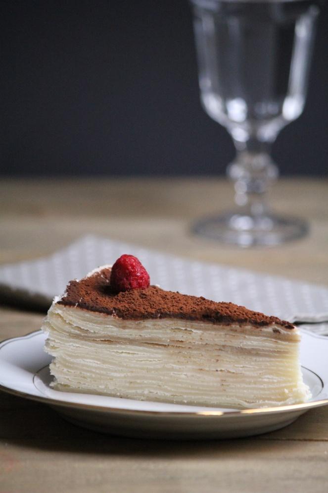 Rezept Vegane Tiramisu-Crêpe-Torte