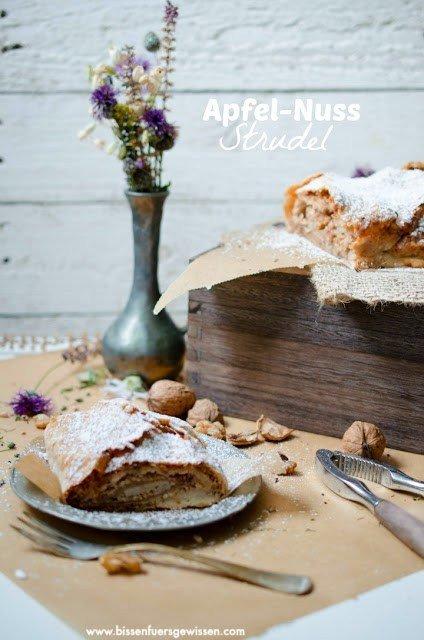 Rezept Veganer Apfelstrudel mit Nuss