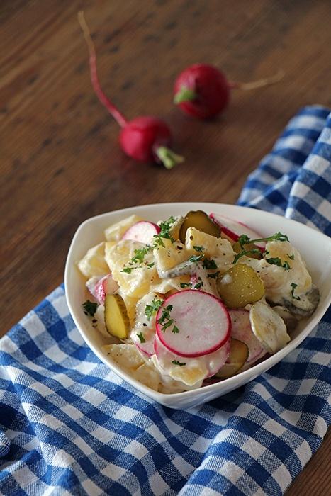 Rezept Veganer Kartoffelsalat mit Radieschen