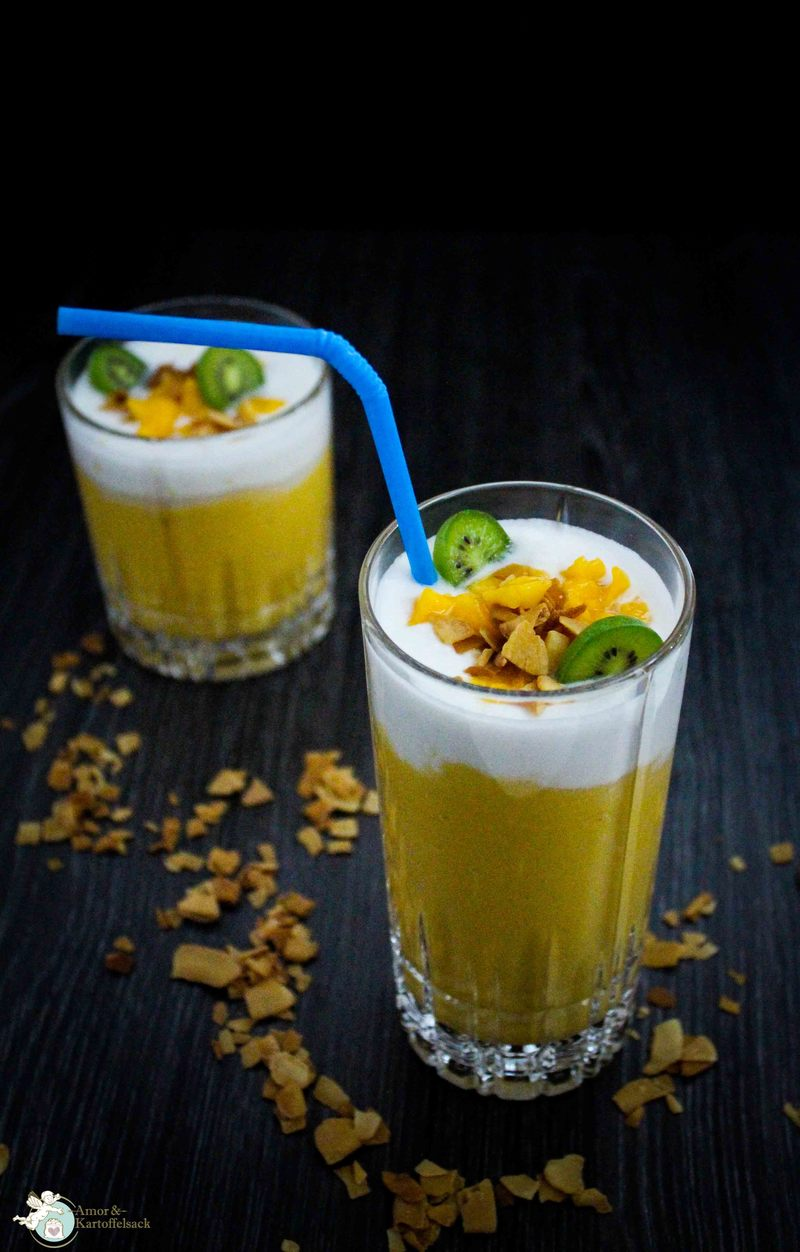 Rezept veganer Mango-Kokos-Smoothie