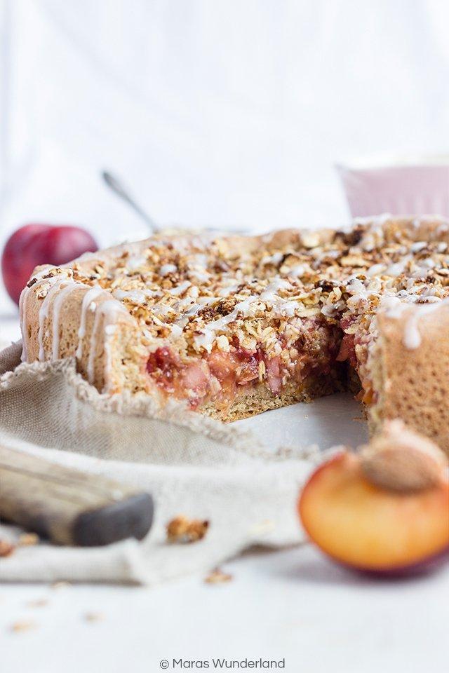 Rezept Veganer Pflaumen-Streuselkuchen