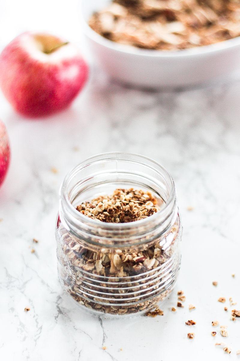 Rezept Veganes Apfel-Zimt-Granola