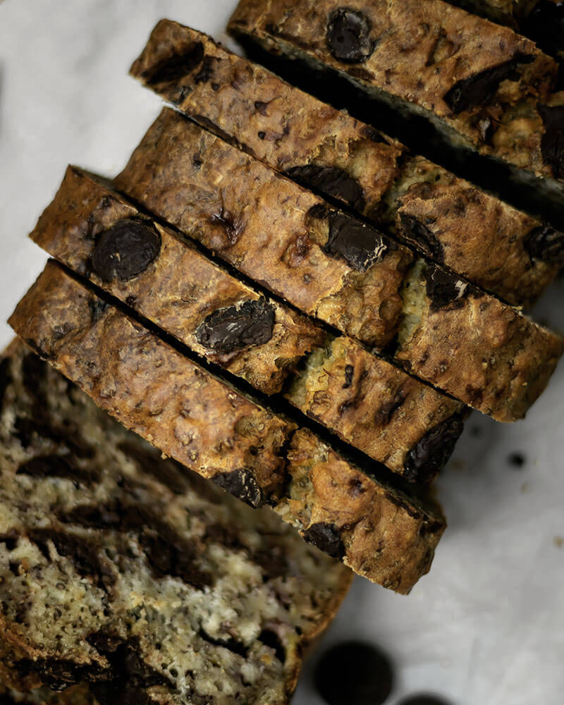 Rezept Veganes Bananenbrot mit Schokolade | Saftiges Bananenbrot ohne Ei selber machen
