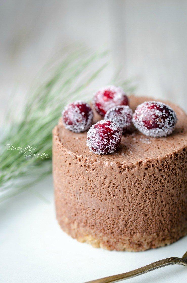 Rezept Veganes Schokomousse-Parfait mit Spekulatiusboden
