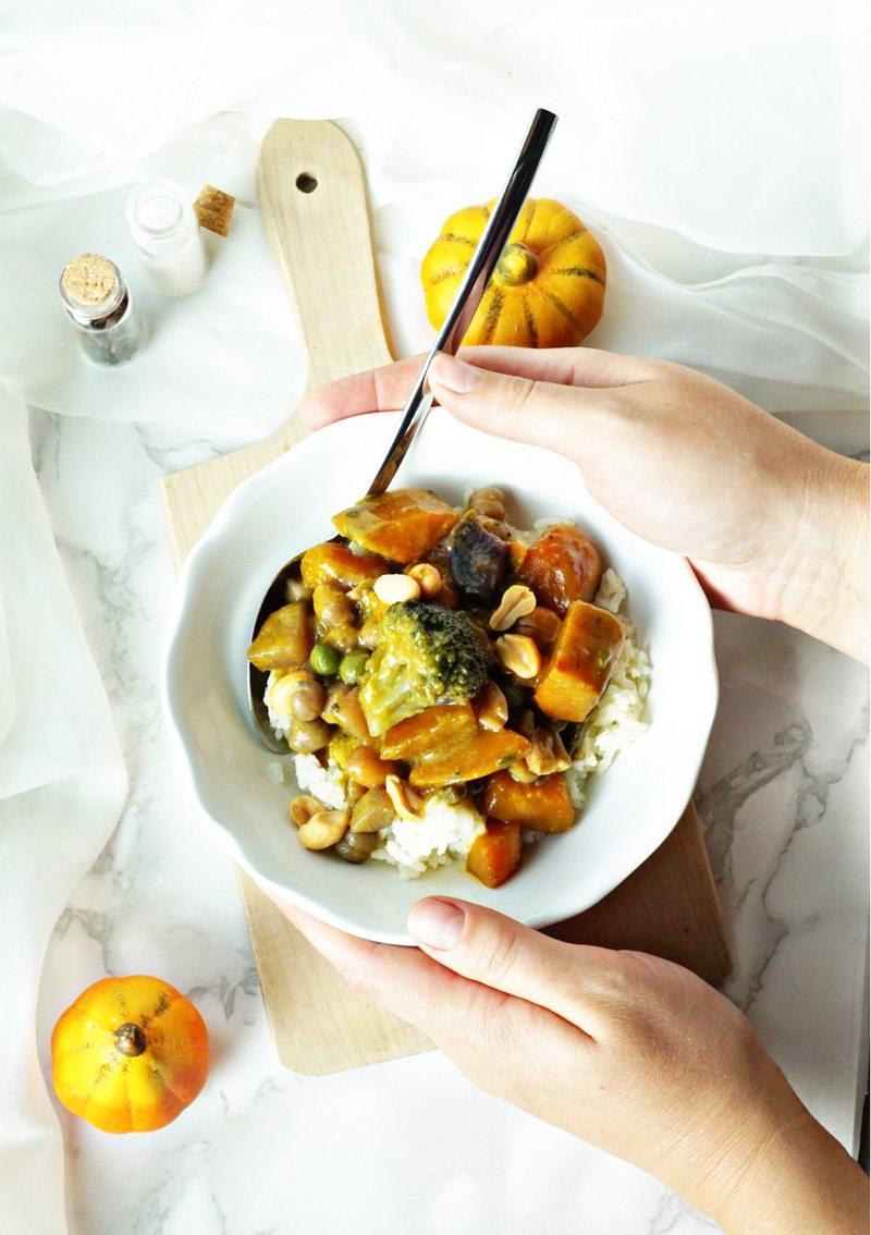 Rezept Veganes Thai-Curry mit Reis